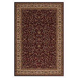 Concord Global Trading Kashan 7'10 x 11'2 Area Rug in Red