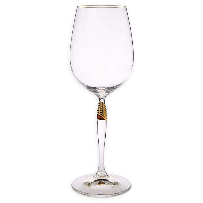 Alternate image 1 for Classic Touch Gold Detail Water Glasses (Set of 6)