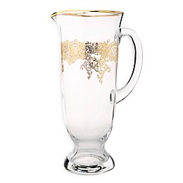 Classic Touch Vivid Collection Glass Pitcher in Gold