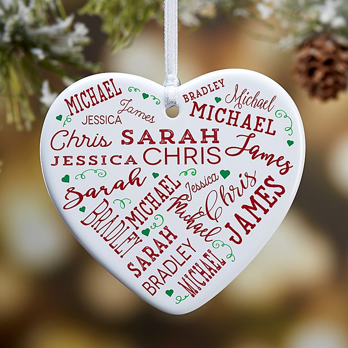 Alternate image 1 for Close To Her Heart 1-Sided Christmas Ornament
