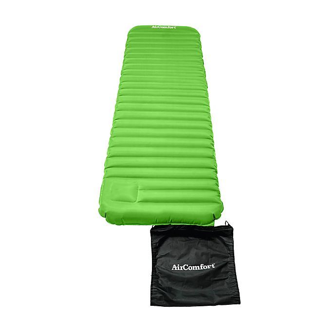 Alternate image 1 for Air Comfort Large Roll & Go Lightweight Sleeping Pad in Lime