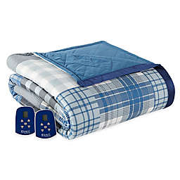 Micro Flannel® Electric Heated Full Comforter/Blanket in Plaid