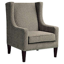 Madison Park Barton Wing Chair in Grey