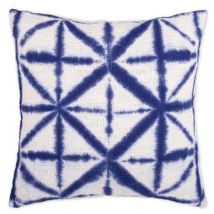 Alternate image 1 for Shibori Geometric Square Throw Pillow in Indigo