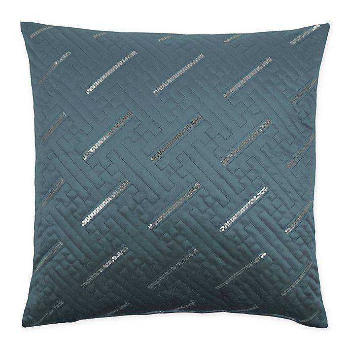 Alternate image 1 for Sherry Kline Fairfield 20-Inch x 20-Inch Embroidered Velvet Throw Pillow in Atlantic Blue