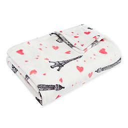 Betsey Johnson® Paris Love Plush Throw