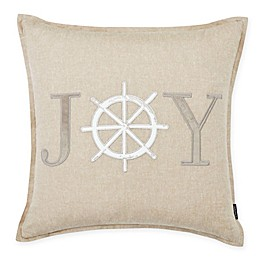 "Nautica ""JOY"" 20-Inch Square Throw Pillow in Khaki"