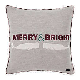 Nautica Merry & Bright 20-Inch Square Throw Pillow in Grey