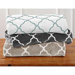 Home Fashion Designs Oversized Lattice Print Throw Blanket