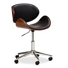 Baxton Studio® Pansy Swivel Office Chair in Black