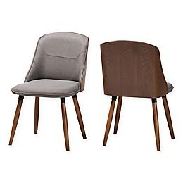 Baxton Studio® Jacintha Dining Chairs in Grey (Set of 2)