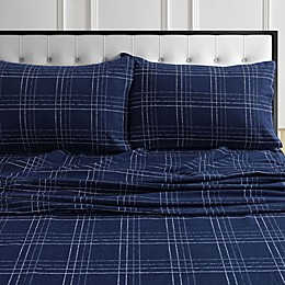 Tribeca Living® Oxford Flannel Sheet Set in Navy