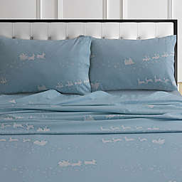 Tribeca Living® 170-Gsm Solid And Printed Sheets And Pillow Pairs 170 Thread Count King in Blue