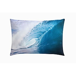 Body Glove The Wave Oblong Throw Pillow in Blue
