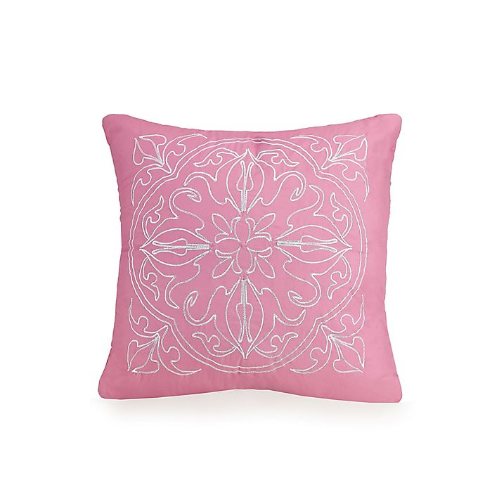 Alternate image 1 for Jessica Simpson Medallion Square Throw Pillow in Pink