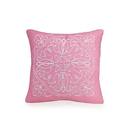 Jessica Simpson Medallion Square Throw Pillow in Pink