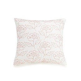 Jessica Simpson Growing Floral Square Throw Pillow in Blush