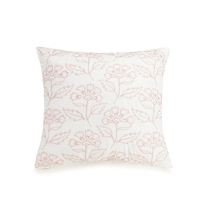 Alternate image 1 for Jessica Simpson Growing Floral Square Throw Pillow in Blush