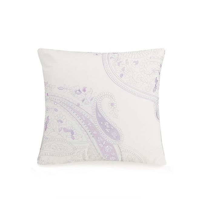 Alternate image 1 for Jessica Simpson Dancing Paisley Square Throw Pillow in Lavender