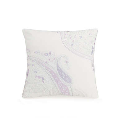Jessica Simpson Dancing Paisley Square Throw Pillow in Lavender