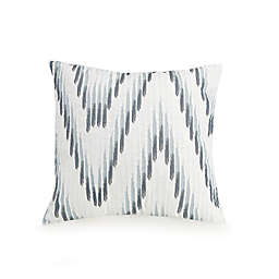 Jessica Simpson Embroidered Ikat Square Throw Pillow in Blue