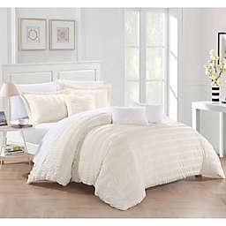 Dazza 6-Piece Queen Comforter Set in Beige