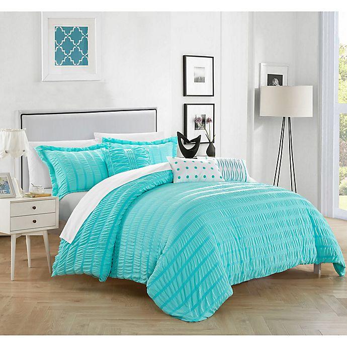 Alternate image 1 for Dazza 6-Piece Queen Comforter Set in Blue