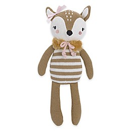 Cuddle Me Knitted Plush Deer Toy in Brown