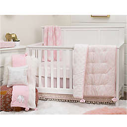 NoJo Serendipity 4-Piece Crib Bedding Set in Pink