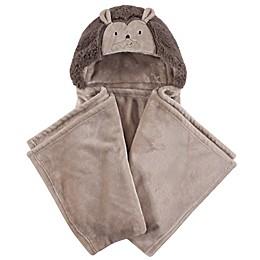 Hudson Baby® Hedgehog Plush Hooded Blanket in Brown