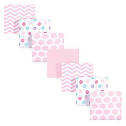 Luvable Friends® 7-Pack Dots Flannel Receiving Blankets in Pink