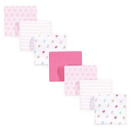 Luvable Friends® 7-Pack Birdies Flannel Receiving Blankets in Pink