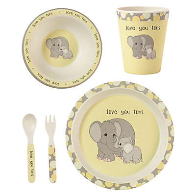 Precious Moments® Elephant 5-Piece Child's Place Setting in Yellow