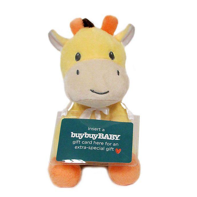 Alternate image 1 for Kids Preferred® Plush Giraffe with Gift Card Holder