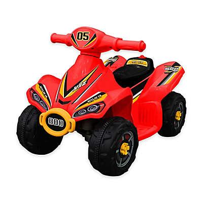 Blazin Wheels 6-Volt Battery Operated Foward Driving Mini Quad in Red
