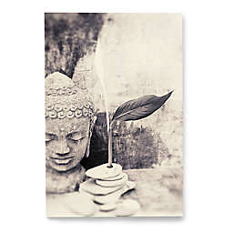 Artwall Black and White Buddha Wrapped Canvas Wall Art