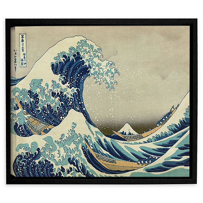 Alternate image 1 for Artwall The Great Wave Off Kanagawa 18-Inch x 24-Inch Framed Canvas Wall Art