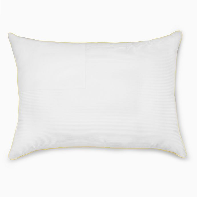 Alternate image 1 for Calvin Klein® Luxury Flag Back/Stomach Sleeper Pillow in White