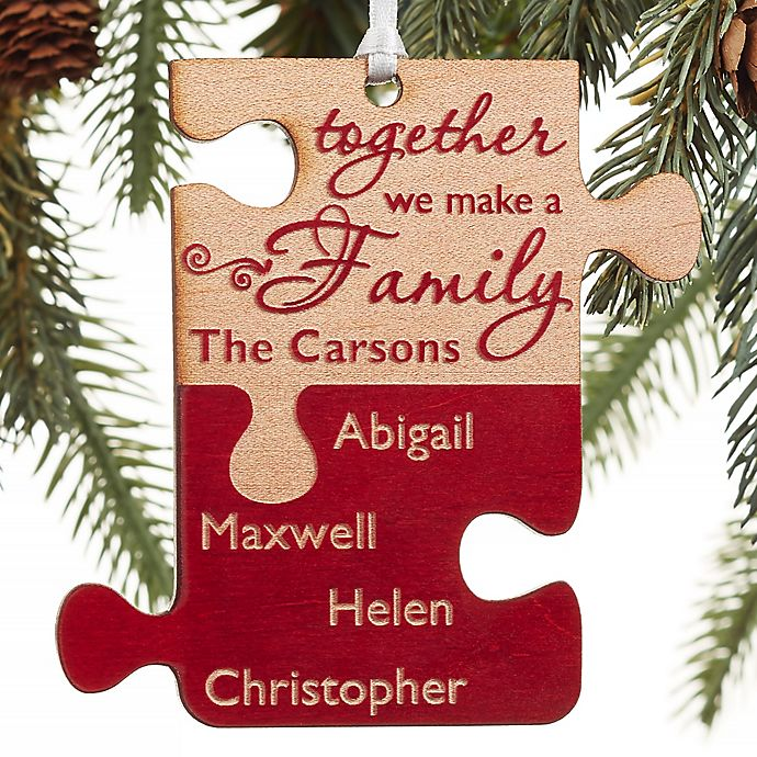Alternate image 1 for Pieces Of Love Personalized Family Ornament