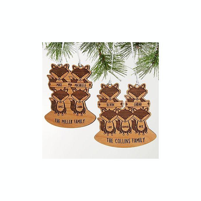 Alternate image 1 for Fox Family Christmas Ornament