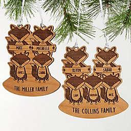 Fox Family Christmas Ornament