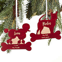 Pet Breed Personalized Wood Christmas Ornament