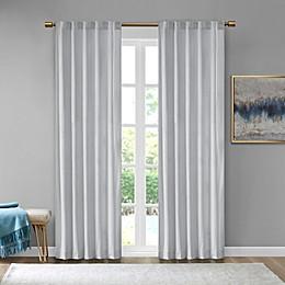 510 Design Colt Velvet Rod Pocket Room Darkening Window Curtain Panel Pair