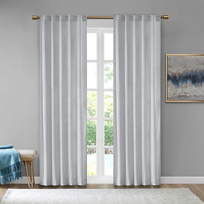 Alternate image 1 for 510 Design Colt Velvet 63-Inch Rod Pocket Room Darkening Window Curtain Panel Pair in Light Grey