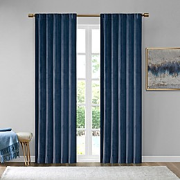 510 Design Colt Velvet Rod Pocket Room Darkening Window Curtain Panel Pair