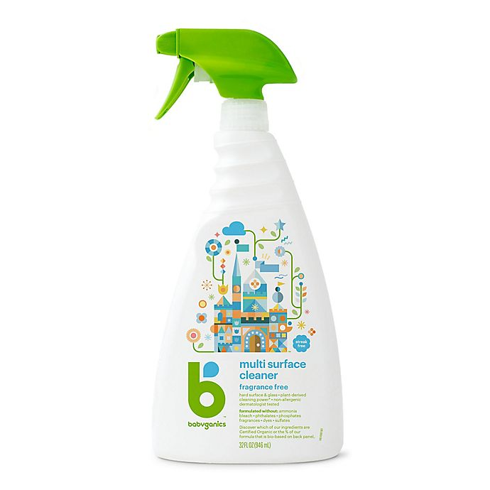 Alternate image 1 for Babyganics® 32 oz. Fragrance-Free Multi-Surface Cleaner