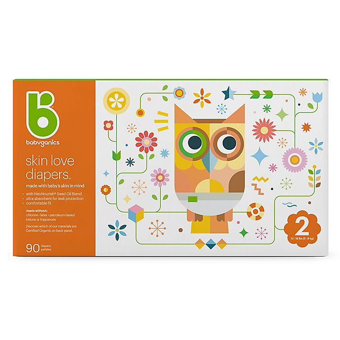 Alternate image 1 for Babyganics® 90-Count Size 2 Ultra Absorbent Diapers