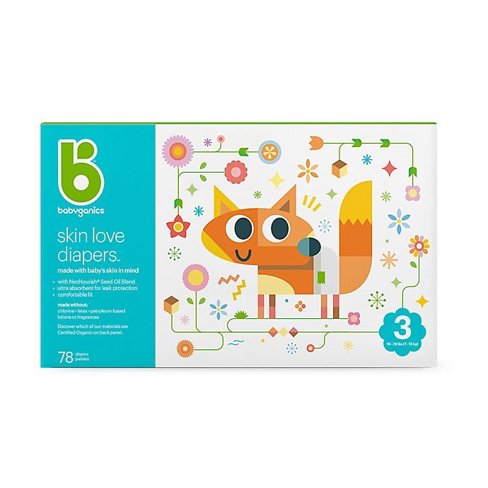 Alternate image 1 for Babyganics® 78-Count Size 3 Ultra Absorbent Diapers