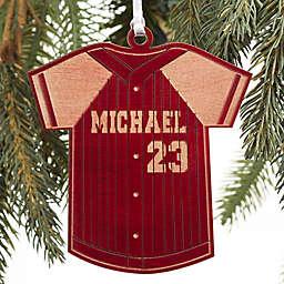Baseball Jersey Wood Ornament
