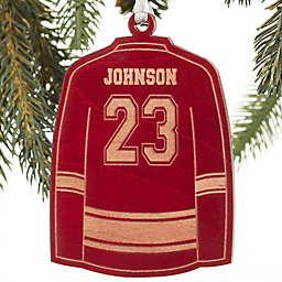Hockey Jersey Wood Christmas Ornament